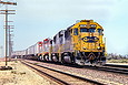 ATSF 3826 returning to the main after a set out at Newberry Springs, CA in May 1993.