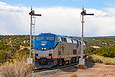 Amtrak 164 splits the W Chapelle NM semaphores on April 20, 2013.
