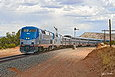 Amtrak 183 splits the semaphores at Blanchard, NM on April 20 2013.