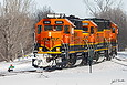 BNSF 2690 heads into Garretson, SD yard on February 4, 2016.