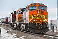 BNSF 4473 leaves the siding south of Garretson, SD on January 30, 2016