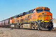 BNSF 6509 starts its grain train at Louviers, CO on January 25, 2014.