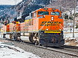 BNSF 9291 leaves Palmer Lake on February 9, 2014.