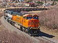 BNSF 9839 rounding Palmer Lake, CO on April 27, 2013.
