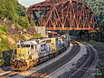 CSX 8089 at the Keystone, PA viaduct in July 1998.