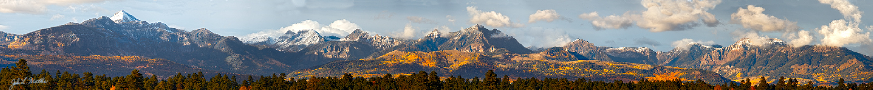 The San Juan mountains north of Pagosa Springs, CO on October 21, 2011.
