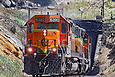 BNSF 6390 exits the Mullan Tunnel at Blossburg, Montana on July 30, 2006.